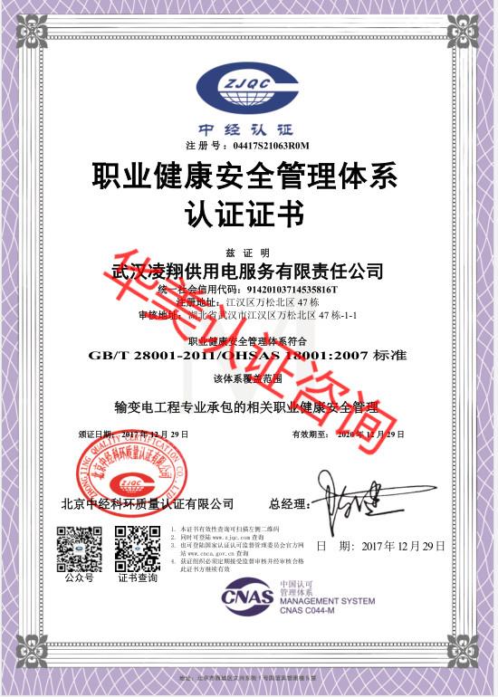 武汉凌翔供用电服务有限责任公司18001