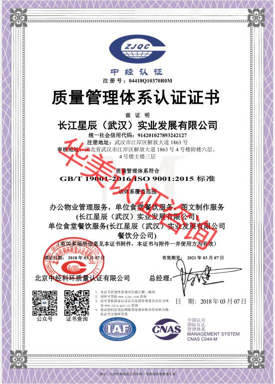 长江ag体育官方app(武汉)实业发展有限公司9001