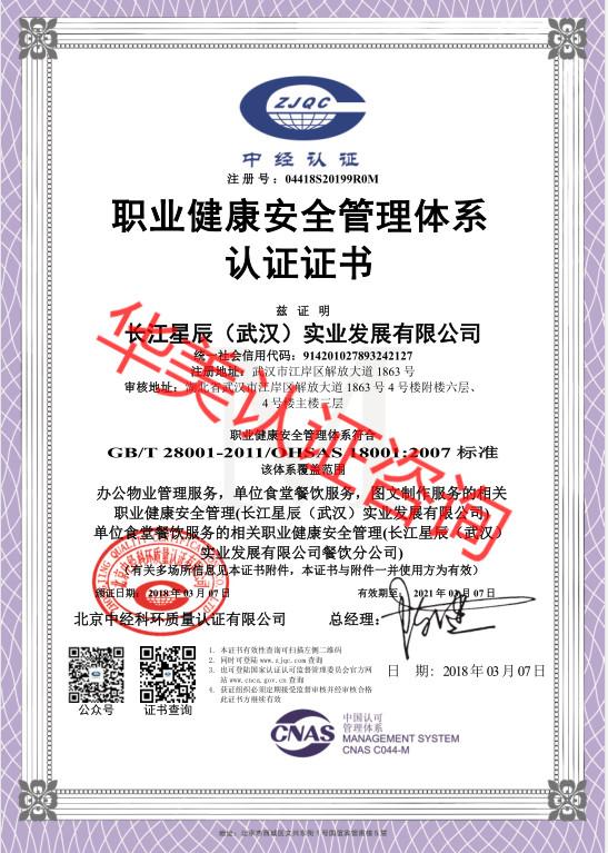 长江ag体育官方app(武汉)实业发展有限公司18001